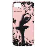 Bailarina en caso personal del iPhone 5 del rosa d iPhone 5 Cárcasa