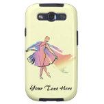 Bailarina en colores pastel (personalizada) galaxy s3 cárcasa
