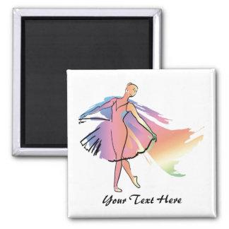 Bailarina en colores pastel (Personalized_ Imán Para Frigorifico