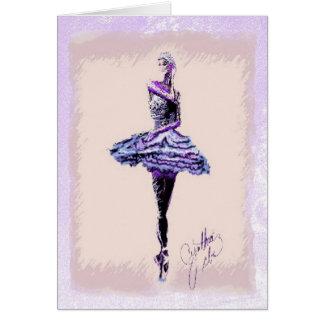 Bailarina en el alto quinto tarjeton