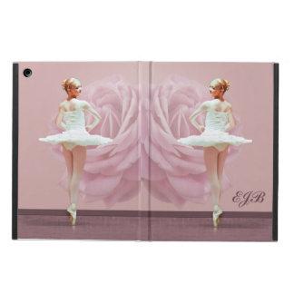 Bailarina en el blanco con color de rosa rosado, m