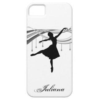 Bailarina en el caso del iPhone 5 del punto iPhone 5 Funda