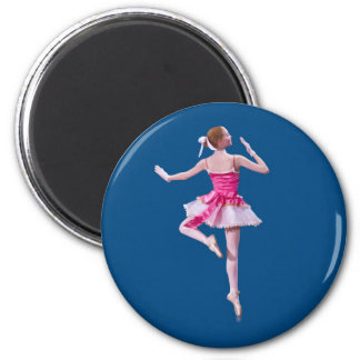 Bailarina en el imán azul
