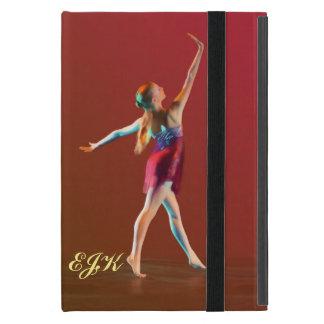 Bailarina en el rojo, monograma iPad mini funda