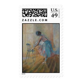 Bailarina en franqueo del color