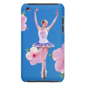 Bailarina en hibisco azul, rosado iPod Case-Mate funda