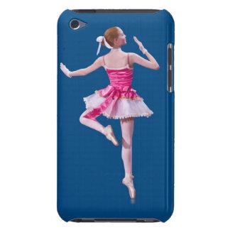 Bailarina en la caja azul de Barely There del comp iPod Case-Mate Cárcasa