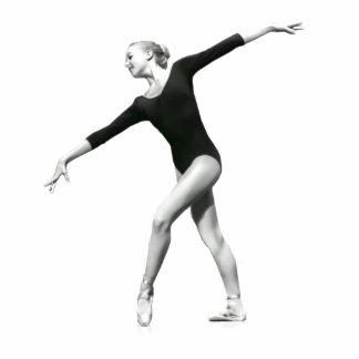 Bailarina en la escultura blanco y negro Magne de  Imán Fotoescultura