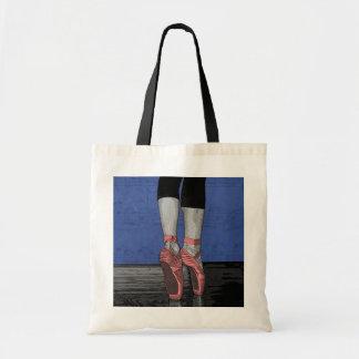 Bailarina en los zapatos rosados de Pointe Bolsa Tela Barata