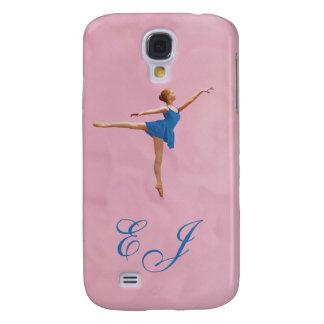 Bailarina en monograma de la posición del Arabesqu Funda Para Galaxy S4