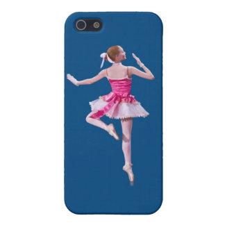 Bailarina en personalizable azul iPhone 5 fundas