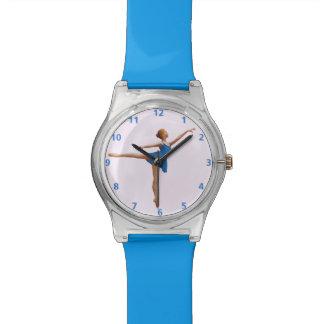 Bailarina en personalizable de la posición del relojes de mano