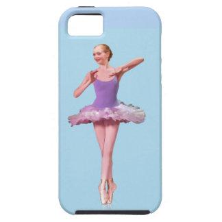 Bailarina en personalizable púrpura y blanco iPhone 5 funda