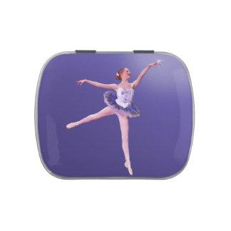 Bailarina en personalizable púrpura y blanco jarrones de dulces