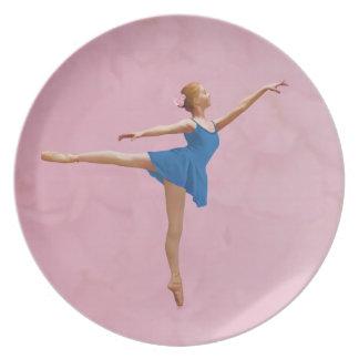 Bailarina en placa del personalizable de la actitu plato de cena