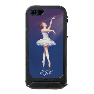Bailarina en Pointe en el proyector, monograma Funda Para iPhone 5 Incipio ATLAS ID