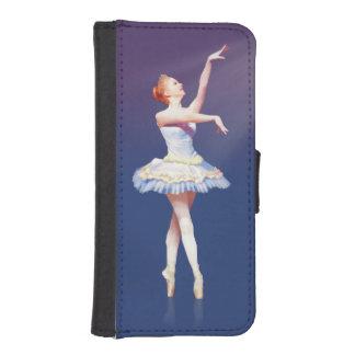 Bailarina en Pointe en proyector Fundas Billetera De iPhone 5