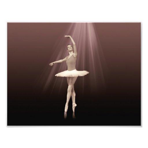 Bailarina en Pointe en tinte pelirrojo Cojinete
