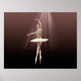 Bailarina en Pointe en tinte pelirrojo Posters