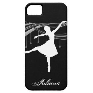 Bailarina en punto en la caja negra del iPhone 5 iPhone 5 Carcasas