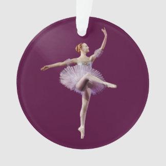 Bailarina en púrpura y blanco
