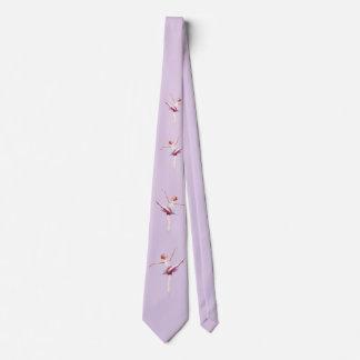 Bailarina en rosa y lavanda corbata