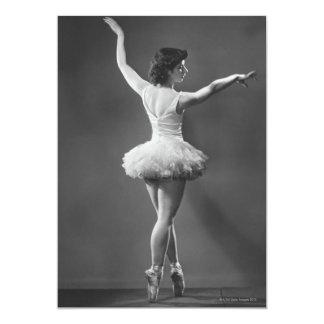 """Bailarina en tutú invitación 5"""" x 7"""""""