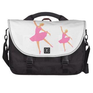 Bailarina en un tutú rosado bolsas para portatil