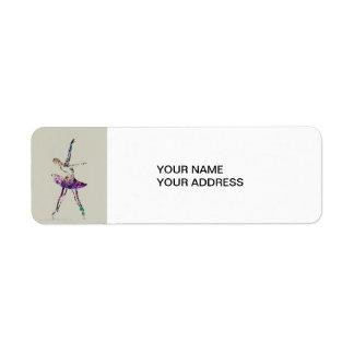 Bailarina Etiqueta De Remitente