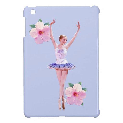 Bailarina, flores rosadas del hibisco