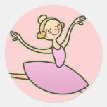 Bailarina hermosa pegatinas redondas