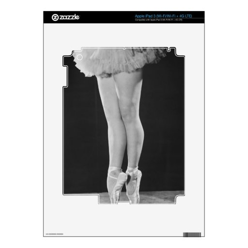 Bailarina iPad 3 Pegatinas Skins