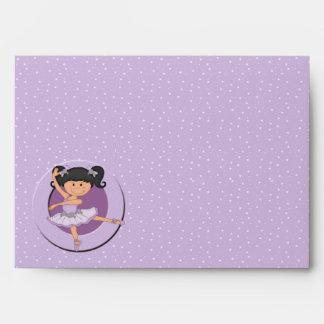 Bailarina linda 1 de la lila sobres