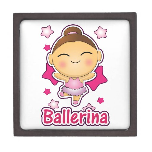 Bailarina linda de Kawaii que hace ballet Cajas De Regalo De Calidad