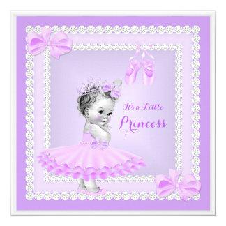 """Bailarina linda de la púrpura del chica de la invitación 5.25"""" x 5.25"""""""