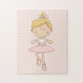 Bailarina linda del Blonde del dibujo animado Rompecabezas
