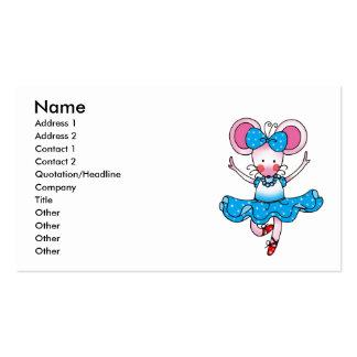 Bailarina linda del chica del ratón tarjeta de negocio