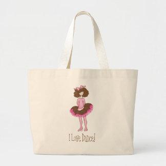 Bailarina linda - la bolsa de asas rosada de la da