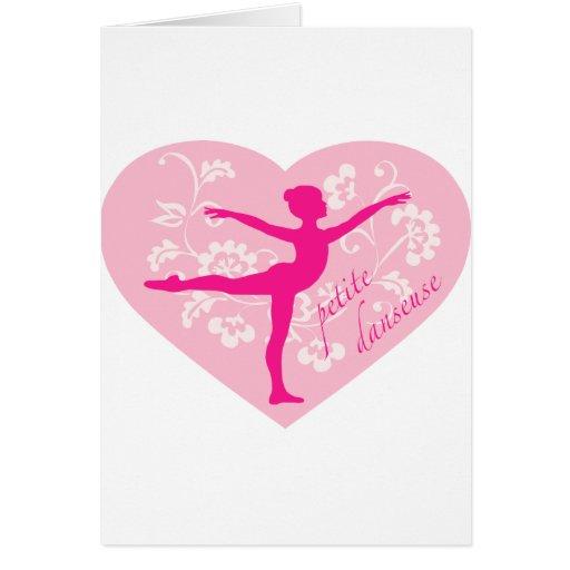Bailarina menuda tarjeta de felicitación