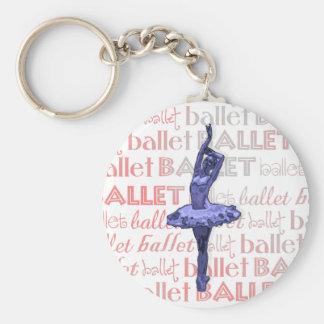 Bailarina metálica azul llavero redondo tipo pin