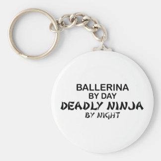 Bailarina Ninja mortal por noche Llavero Personalizado