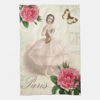 Bailarina parisiense toalla de cocina