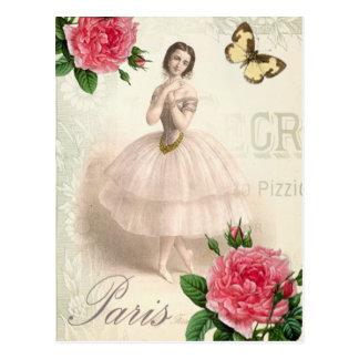 Bailarina parisiense postal