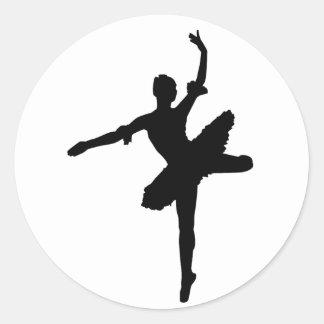 Bailarina Pegatina Redonda