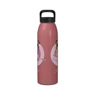 Bailarina personalizada linda 1 botellas de beber