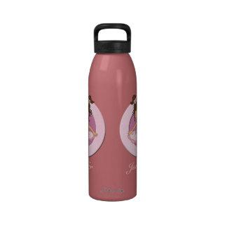 Bailarina personalizada linda 3 botella de beber