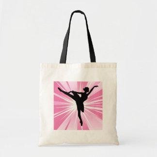 Bailarina rosada de la estrella bolsa tela barata