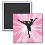 Bailarina rosada de la estrella imán para frigorifico