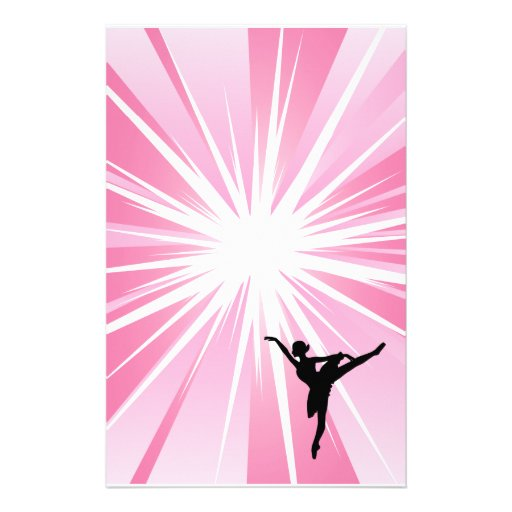 Bailarina rosada de la estrella papeleria de diseño