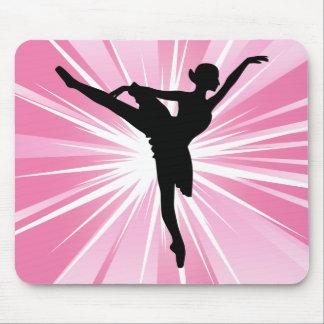 Bailarina rosada de la estrella tapetes de ratones